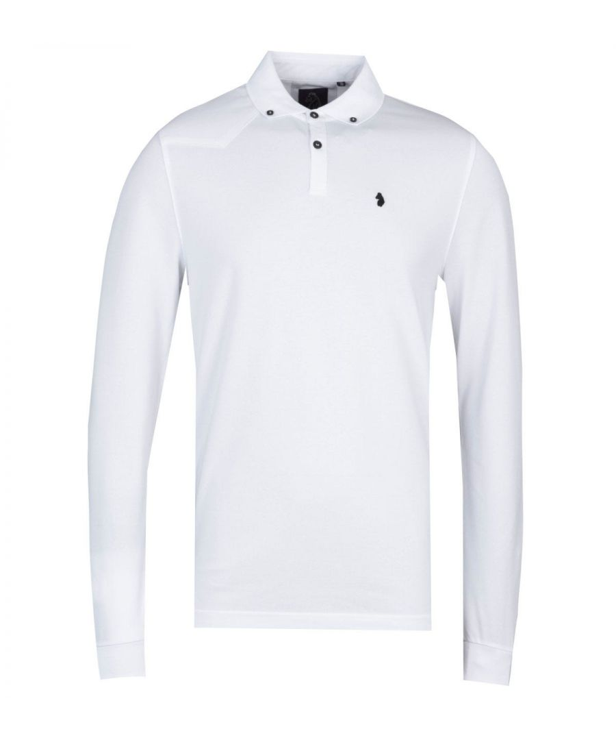 Image for Luke 1977 New Bil Long Sleeve White Polo Shirt