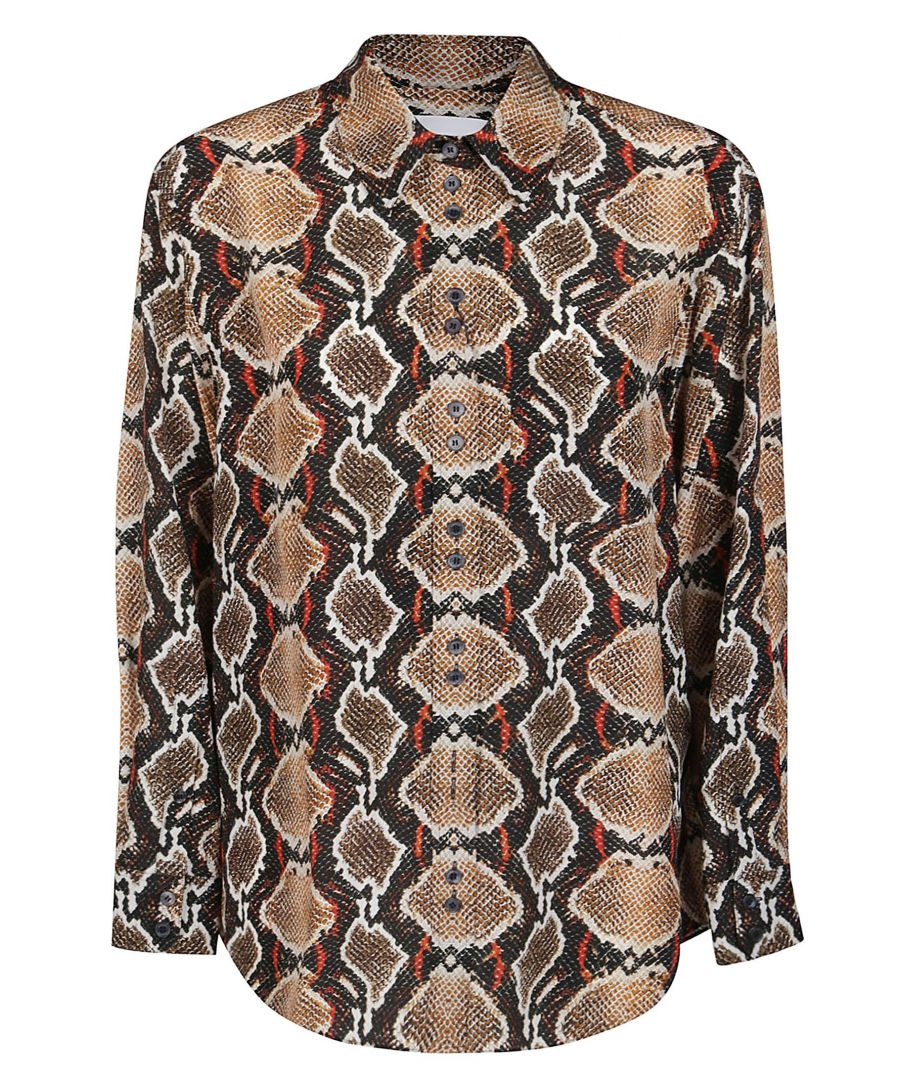 Image for BURBERRY WOMEN'S 8024226 MULTICOLOR SILK SHIRT