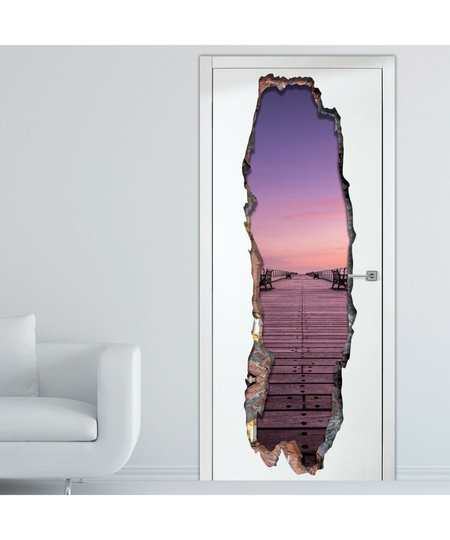 Image for 3D Serenity Door mural Self Adhesive DIY Wall Stickers, Kitchen, Bathroom, Living room, Self-adhesive, Decal, Decoration, Flower