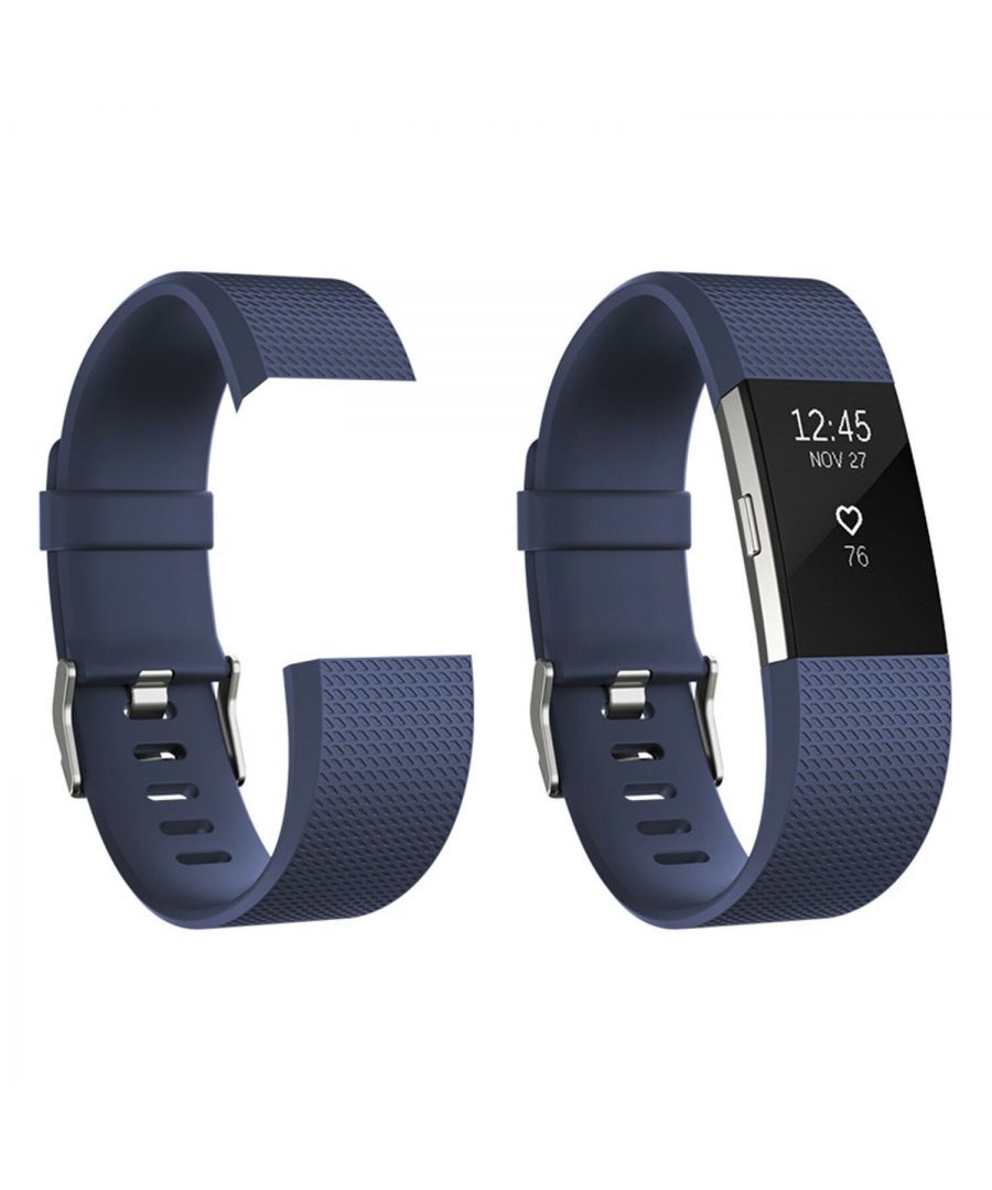 Image for Fitbit Charge 2 Replacement Bands Classic Royal Blue Large