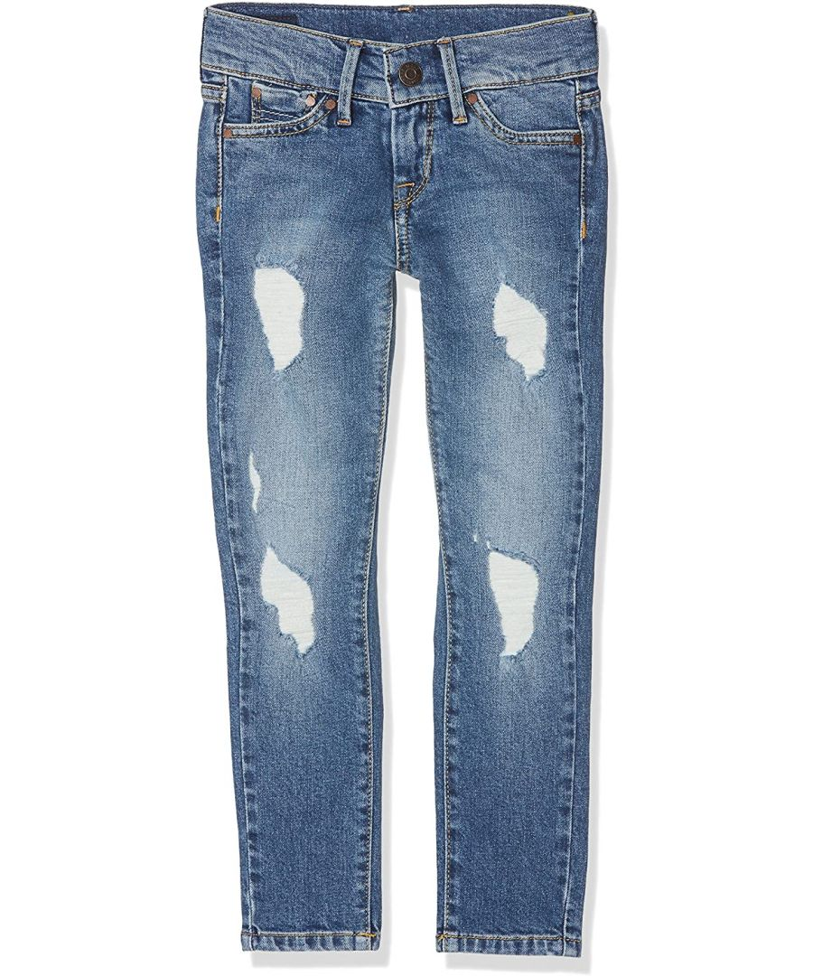 Image for Pepe Jeans Girls Skinny Ripped Jeans in Blue