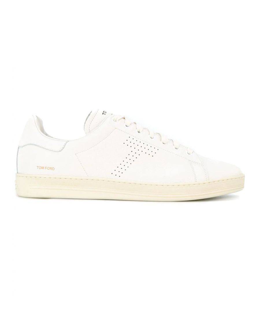 Image for TOM FORD MEN'S J1045TDAPBRR WHITE LEATHER SNEAKERS