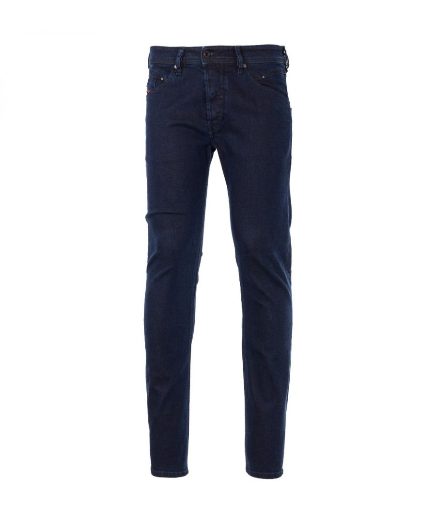 Image for Diesel Belther-R Lyocell Blend Tapered Fit Jeans - Dark Indigo