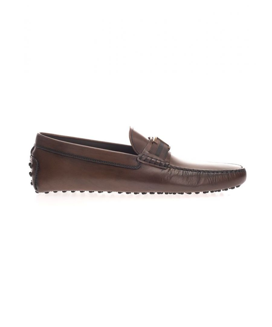 Image for TOD'S MEN'S XXM0GW0CT51D9CS801 BROWN LEATHER LOAFERS
