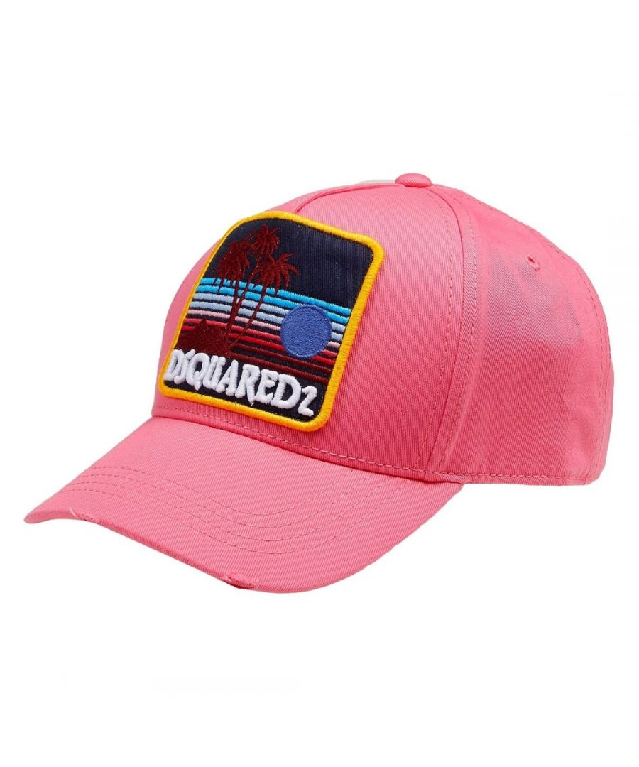 Image for Dsquared2 Island Patch Pink Cap