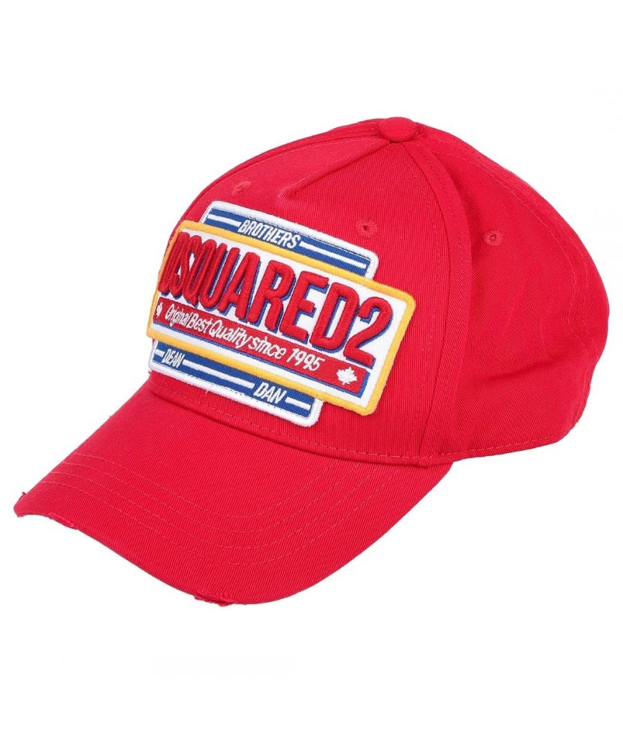 Image for Dsquared2 Large Stitched Logo Red Cap