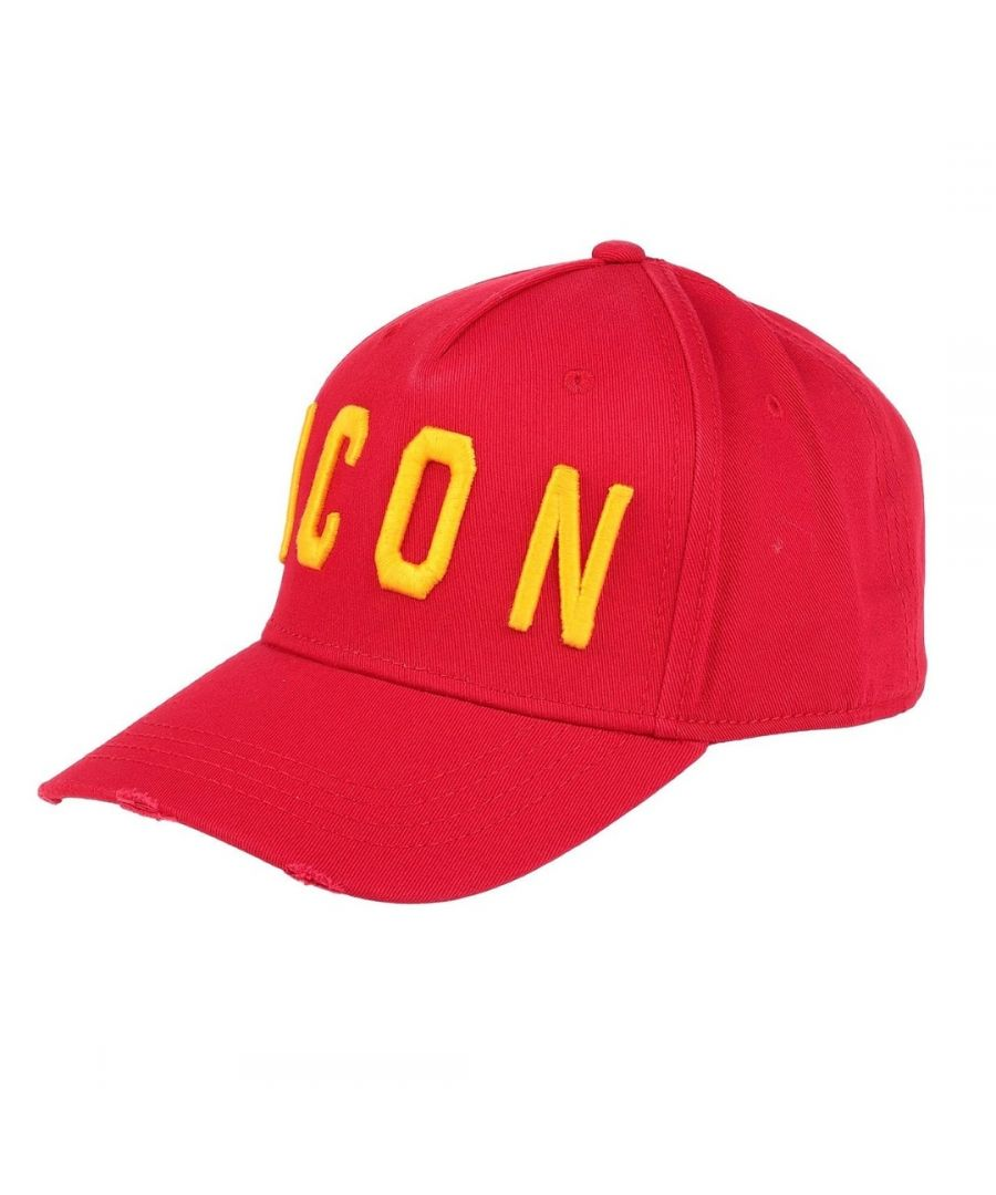 Image for Dsquared2 ICON Worn Effect Red Cap