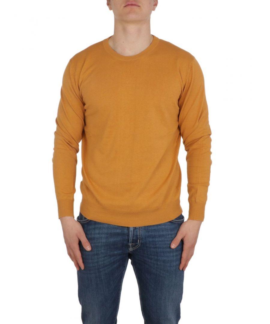 Image for ALTEA MEN'S 205103261 ORANGE LINEN SWEATER