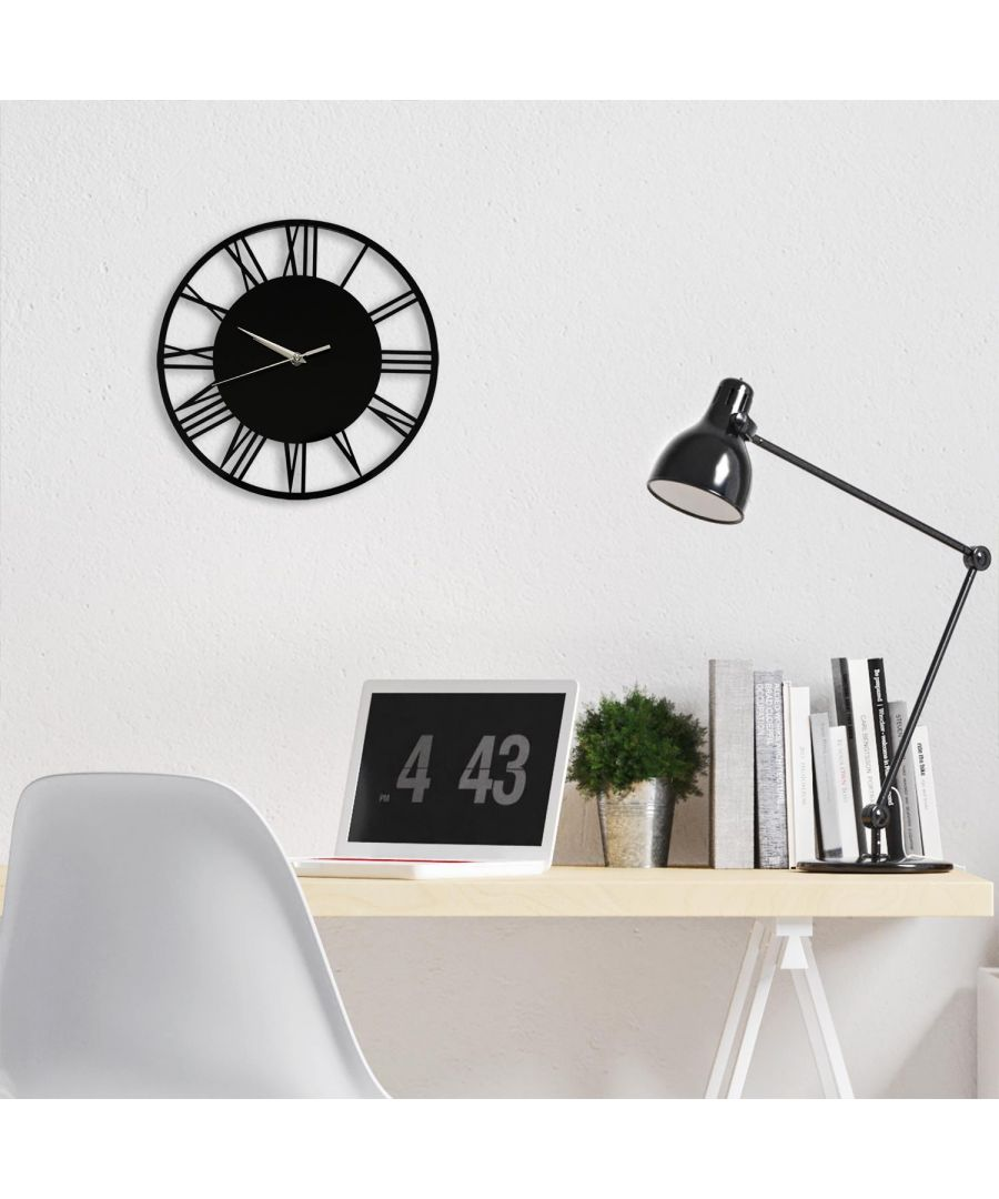 Image for Acrylic Gloss Roman Wall Clock Black 30cm wall clock, wall clock vintage  30 cm x 30 cm x 2.5 cm 1 piece