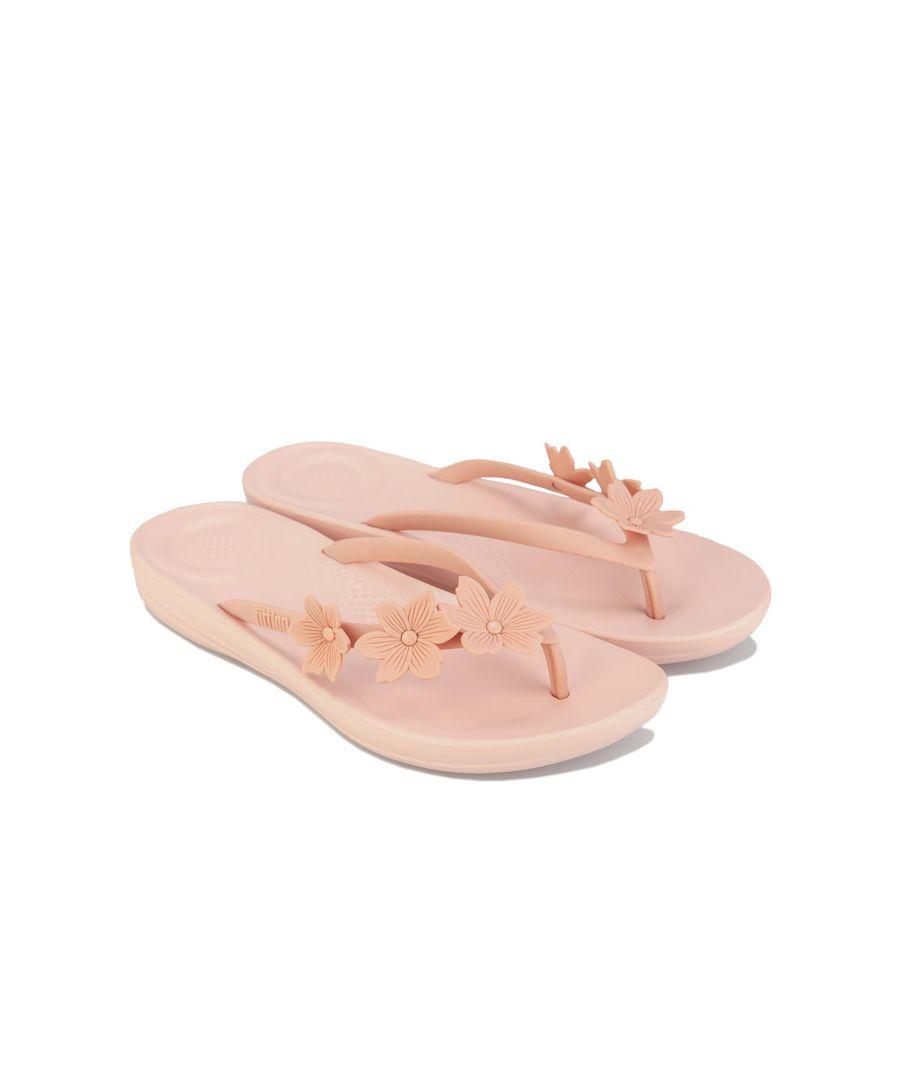 Image for Women's Fit Flop iQushion Flower Flip Flops in Dusky Pink