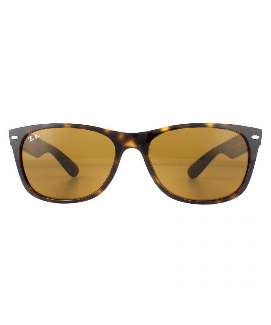 Image for Ray-Ban Sunglasses New Wayfarer 2132 710 Light Havana  Clear Brown Gradient