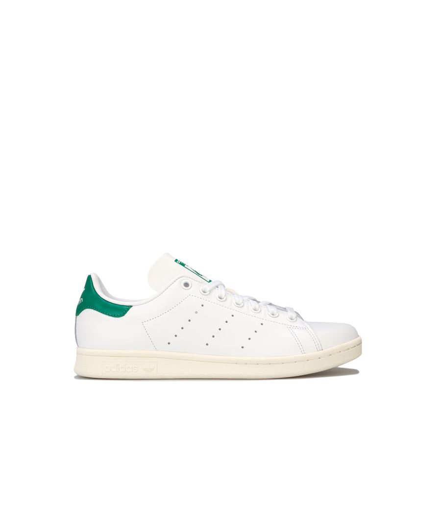 Image for Men's adidas Originals Stan Smith Trainers in White Green