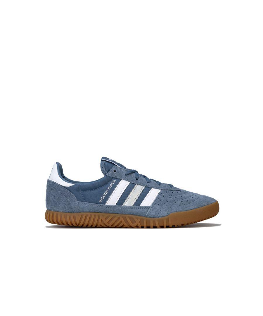 Image for Men's adidas Originals Indoor Super Trainers in Light Blue