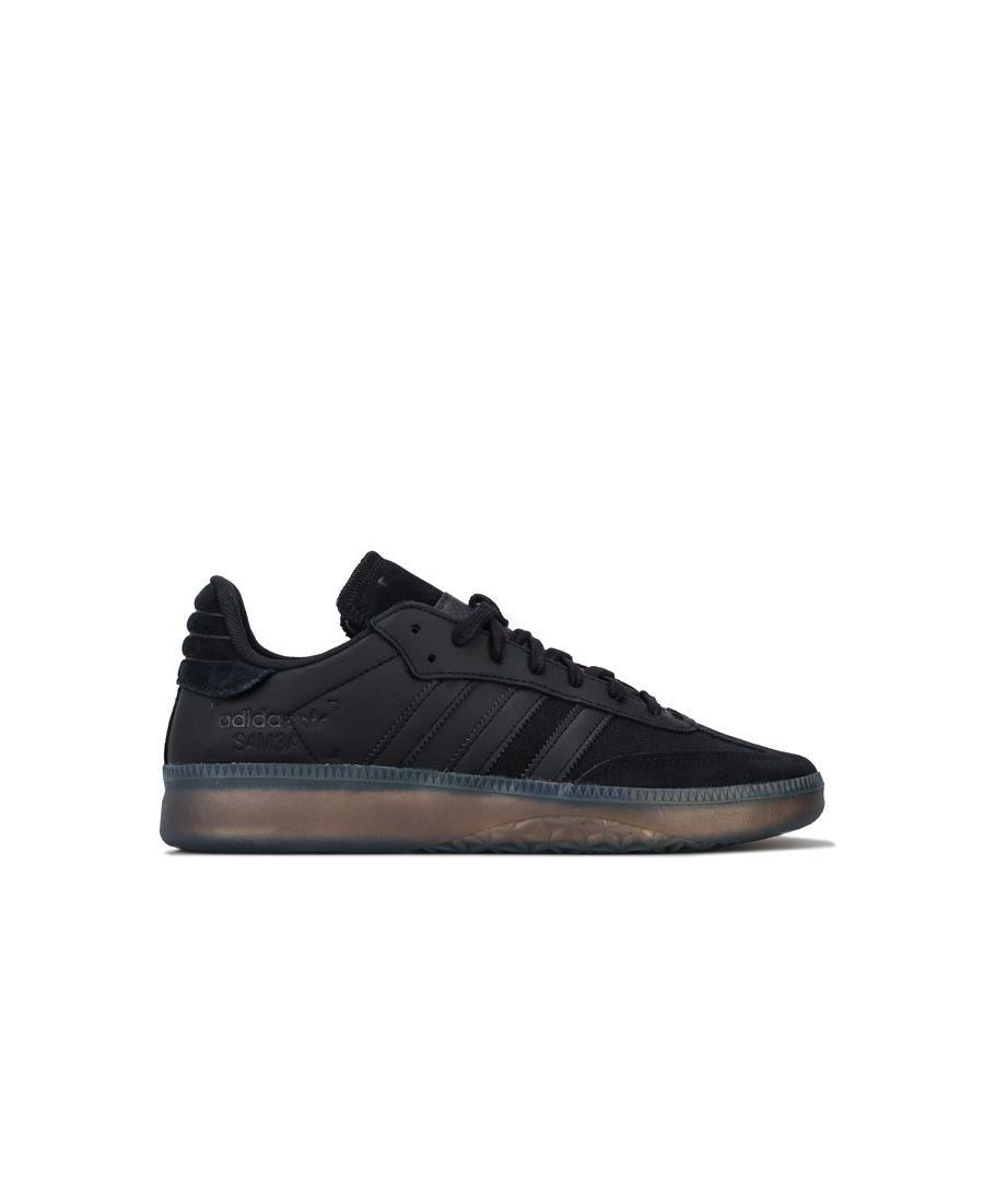 Image for Men's adidas Originals Samba RM Trainers in Black