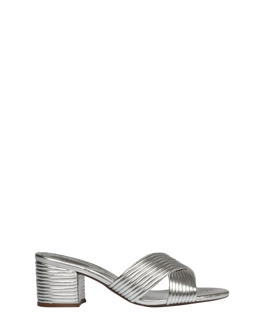 Image for SCHUTZ WOMEN'S S2000104380010 SILVER LEATHER SANDALS