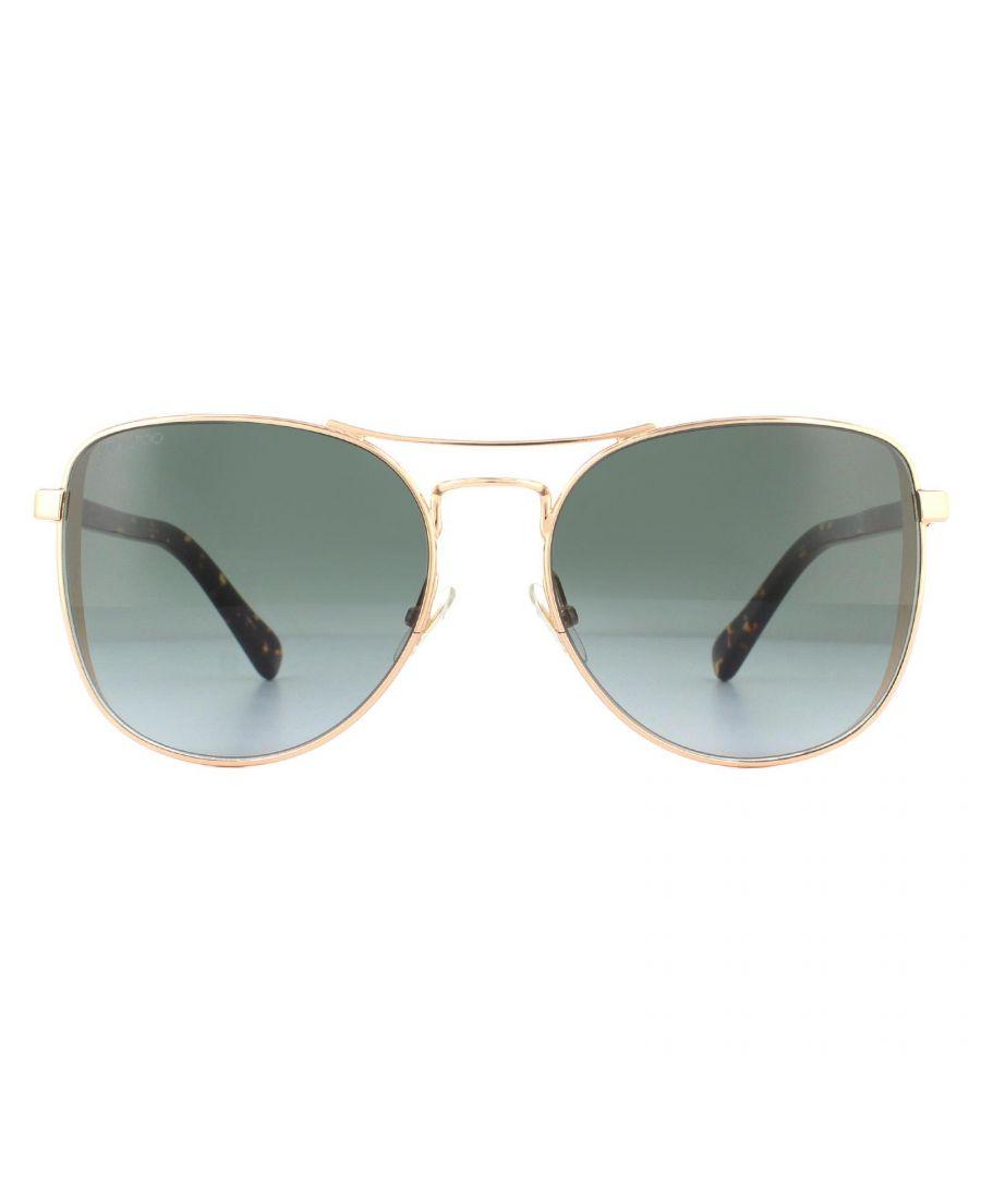 Image for Jimmy Choo Sunglasses Sheena/S DDB 00 Gold Copper Dark Grey Gradient