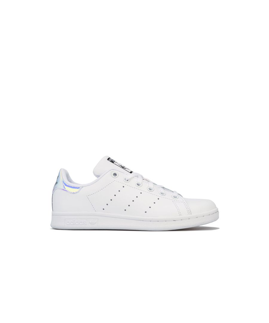Image for Girl's adidas Originals Junior Stan Smith Iridescent Trainers in White