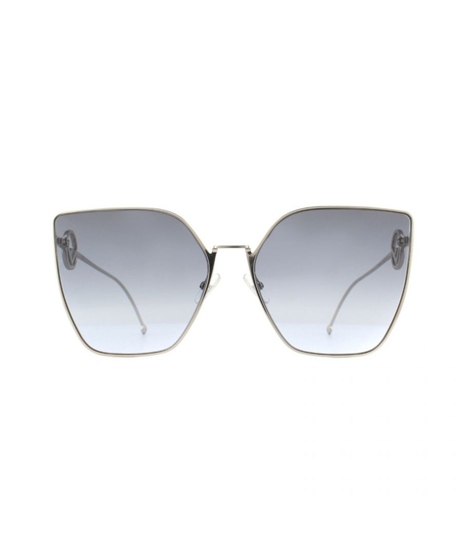 Image for Fendi Sunglasses 0323/S 3YG GB Grey Gold Grey Gradient