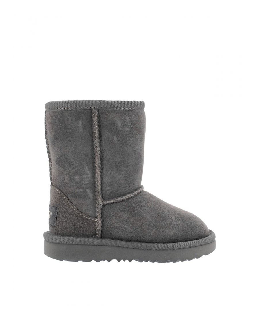 Image for UGG GIRLS 1017703KGREY GREY LEATHER ANKLE BOOTS