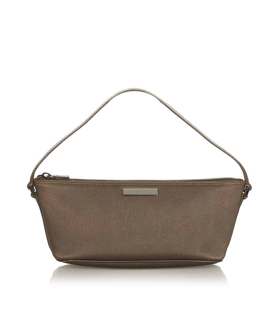Image for Vintage Gucci Canvas Boat Brown