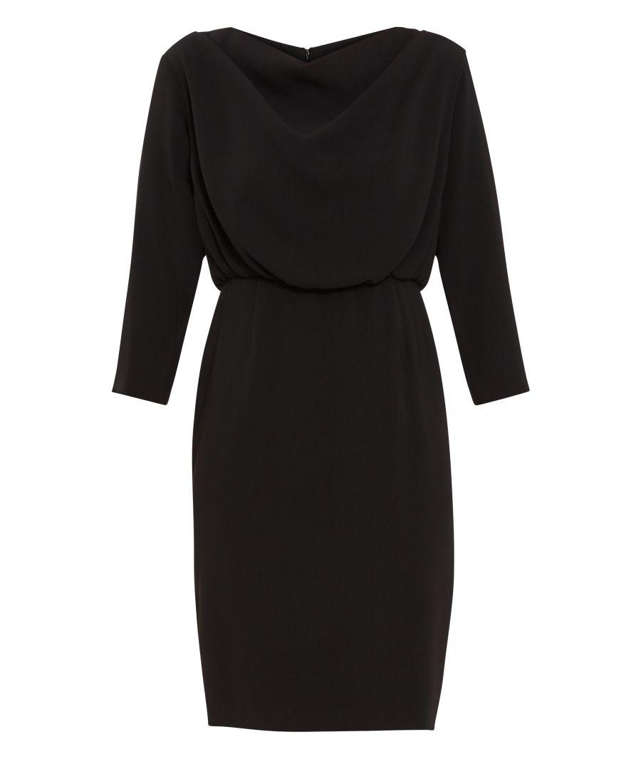 Image for Gina Bacconi Kiko Cowl Neck  Dress in Black
