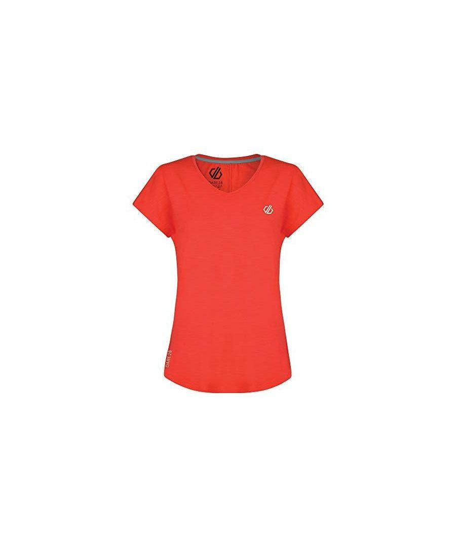 Image for Dare 2B Womens/Ladies Active T-Shirt (Fiery Coral)