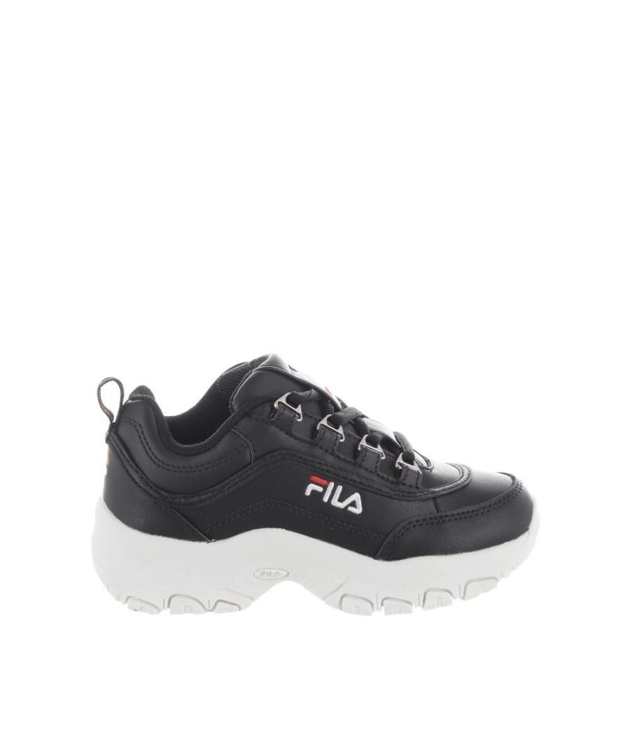 Image for FILA  GIRLS 101078125Y BLACK FAUX LEATHER SNEAKERS