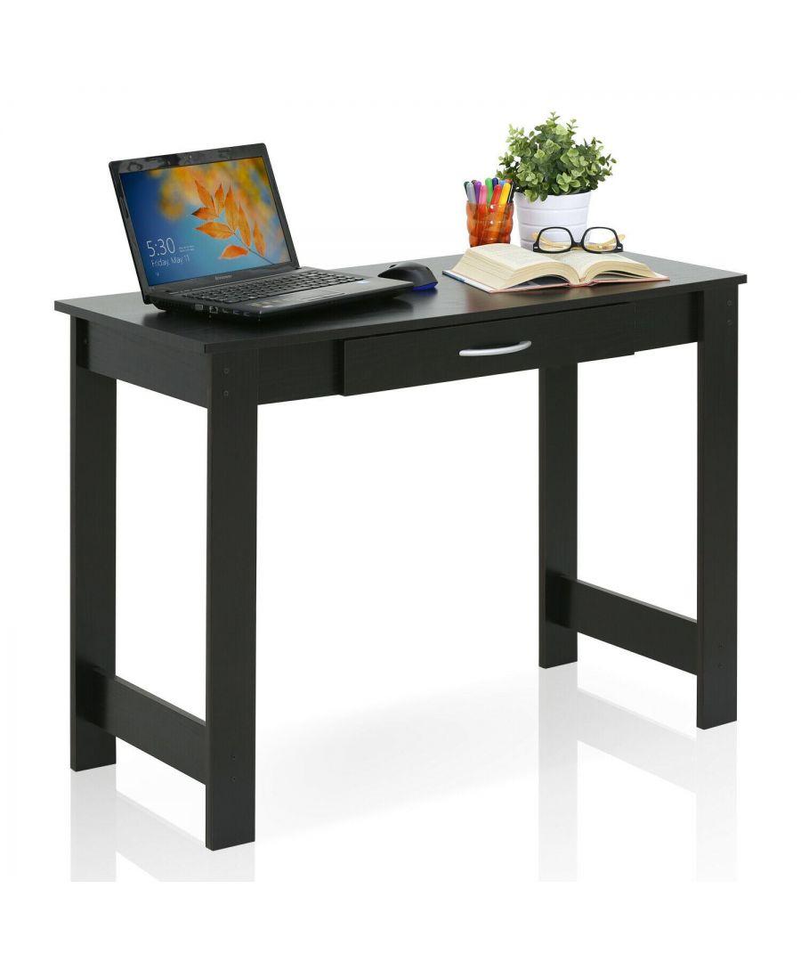 Image for Furinno JAYA Writing Desk with Drawer - Black