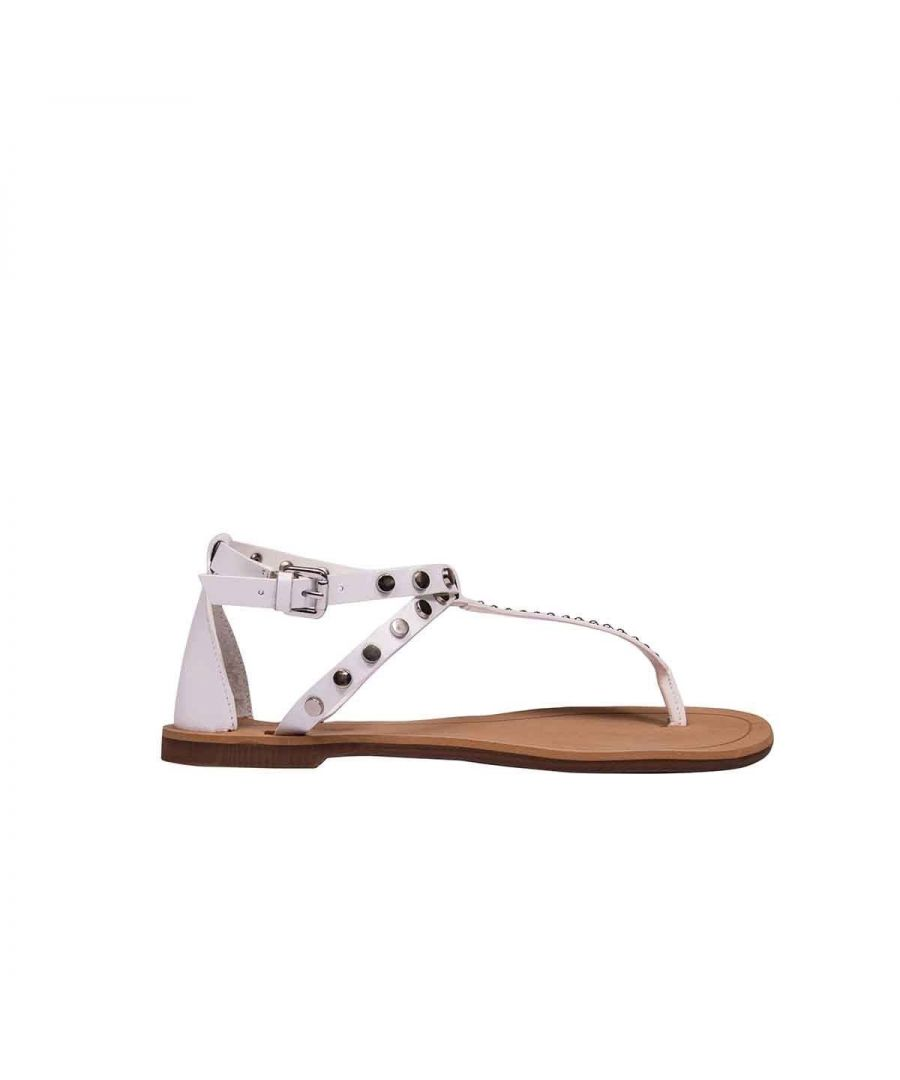 Image for KENDALL + KYLIE WOMEN'S KKROYAL03 WHITE LEATHER SANDALS