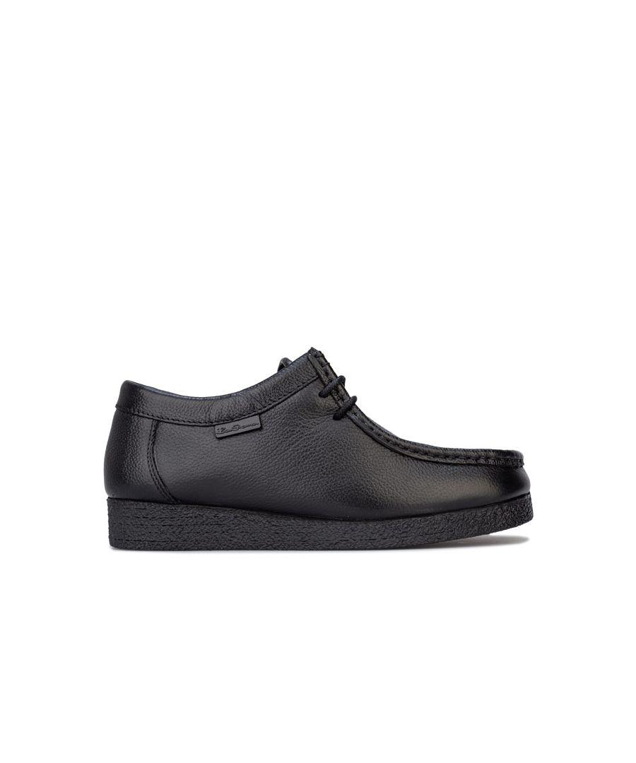 Image for Boy's Ben Sherman Junior Quad Leather Shoes in Black