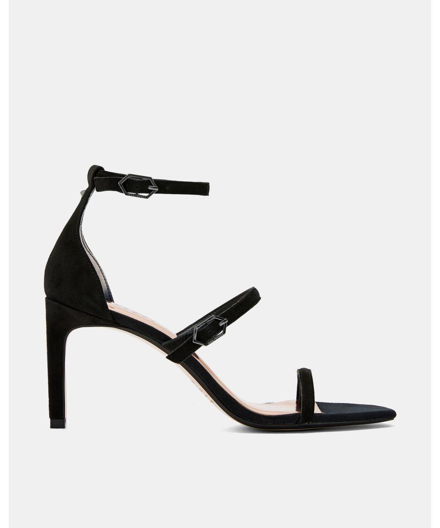 Image for Ted Baker Tria Triple Strap Sandals, Black