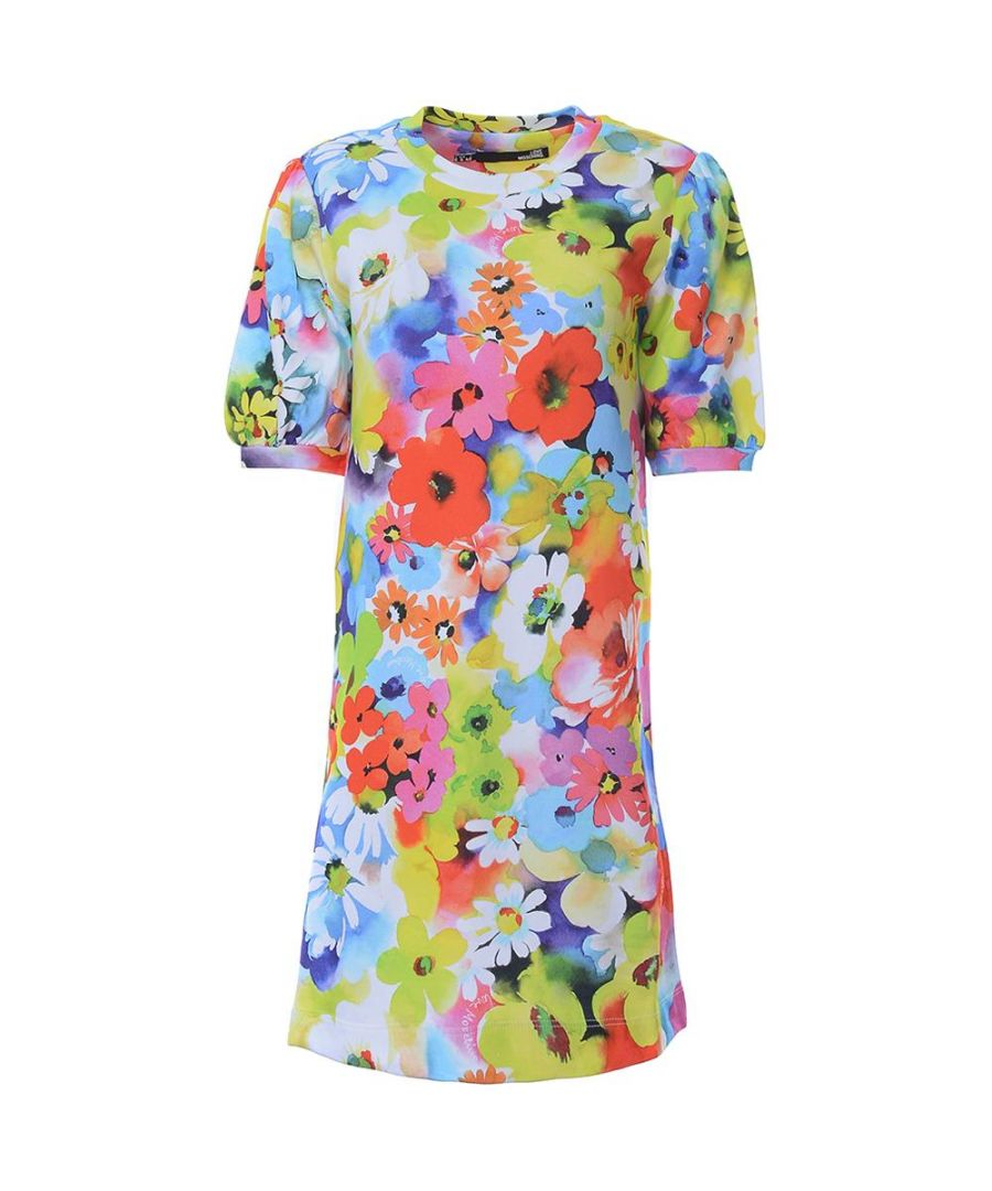 Image for Love Moschino SHORT SL. DRESS ALLOVER FLOWERS PR.-FLOWERS W in Multicoloured