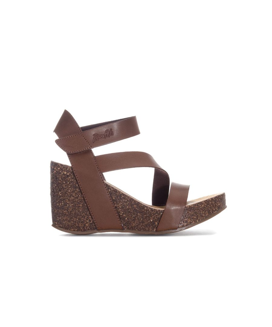 Image for Women's Blowfish Malibu Hydra Strap Wedge Sandals in Brown