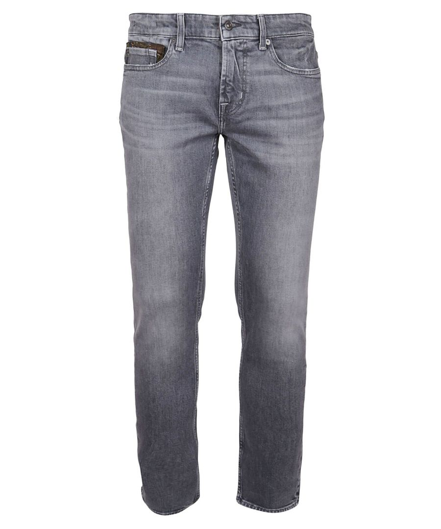 Image for 7 FOR ALL MANKIND MEN'S JSD4R78AEGGREY GREY COTTON JEANS