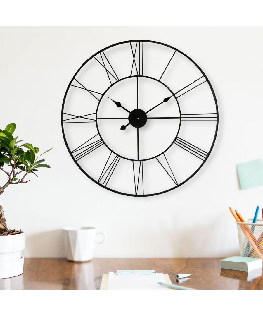 Image for Walplus Slim Iron Wall Clock - 56cm/22Inch Diameter clock, Bedroom, Living room, Modern, Home office essential, Gift