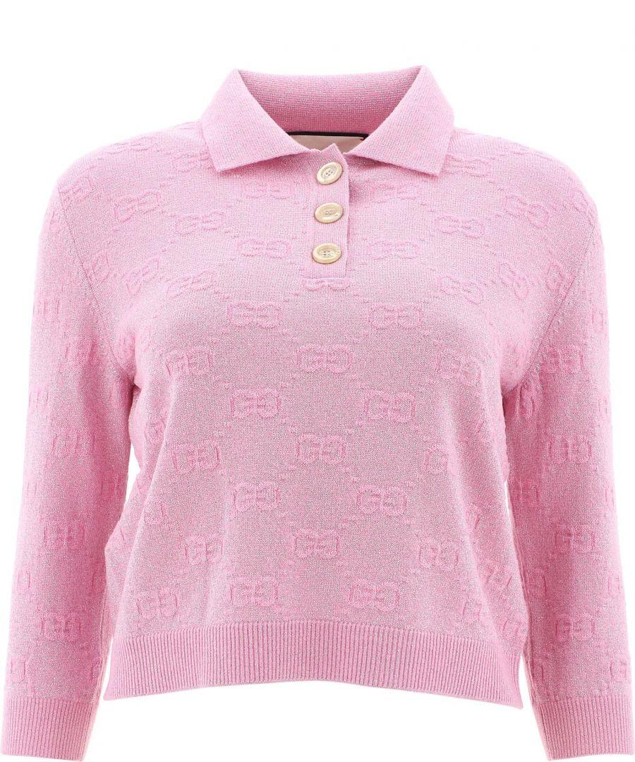 Image for GUCCI WOMEN'S 599273XKA5X5152 PINK WOOL POLO SHIRT