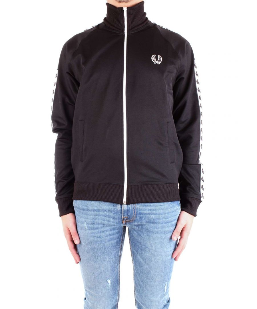 Image for FRED PERRY MEN'S J6231BLACK BLACK POLYESTER SWEATSHIRT