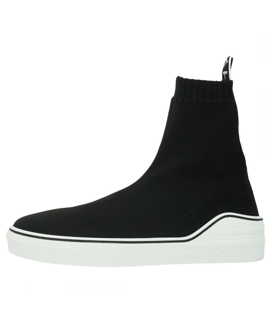 Image for Givenchy Slip-On Logo Knitted Sock Black Trainers