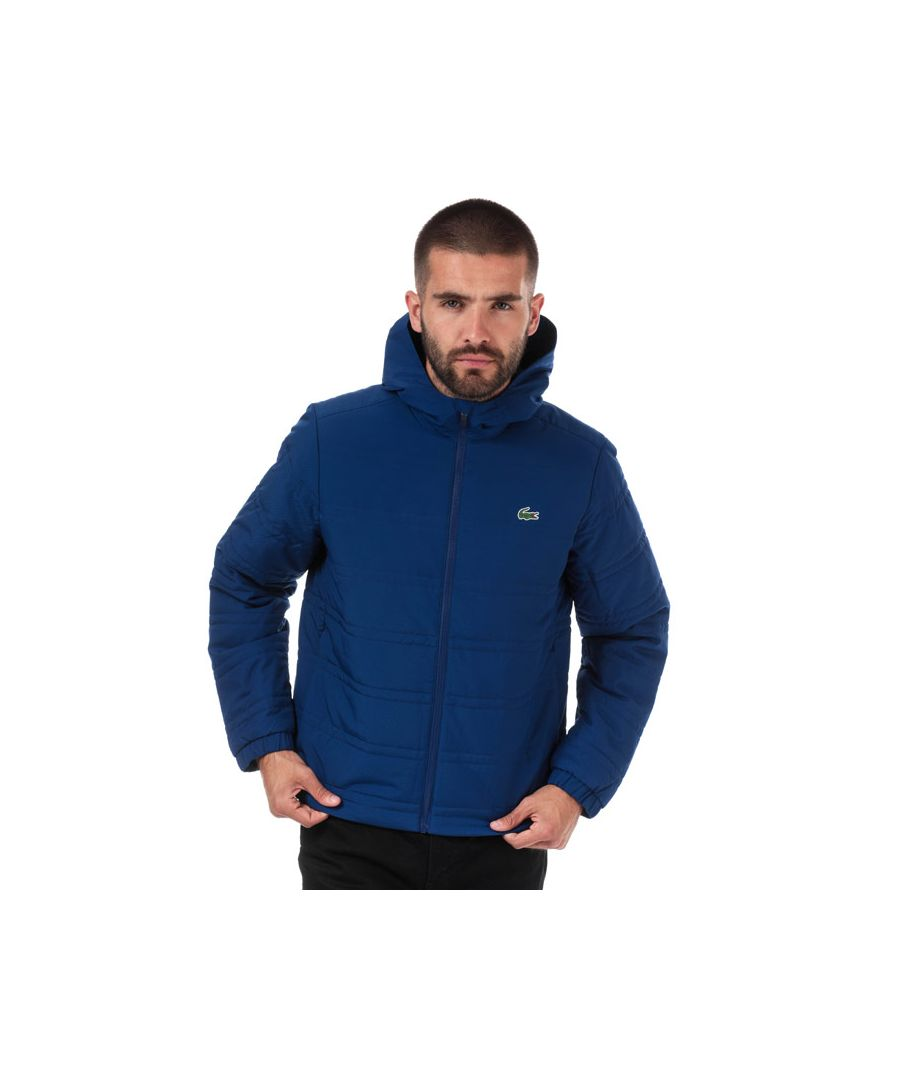 Image for Men's Lacoste Collapsible Water-Resistant Quilted Jacket in Navy