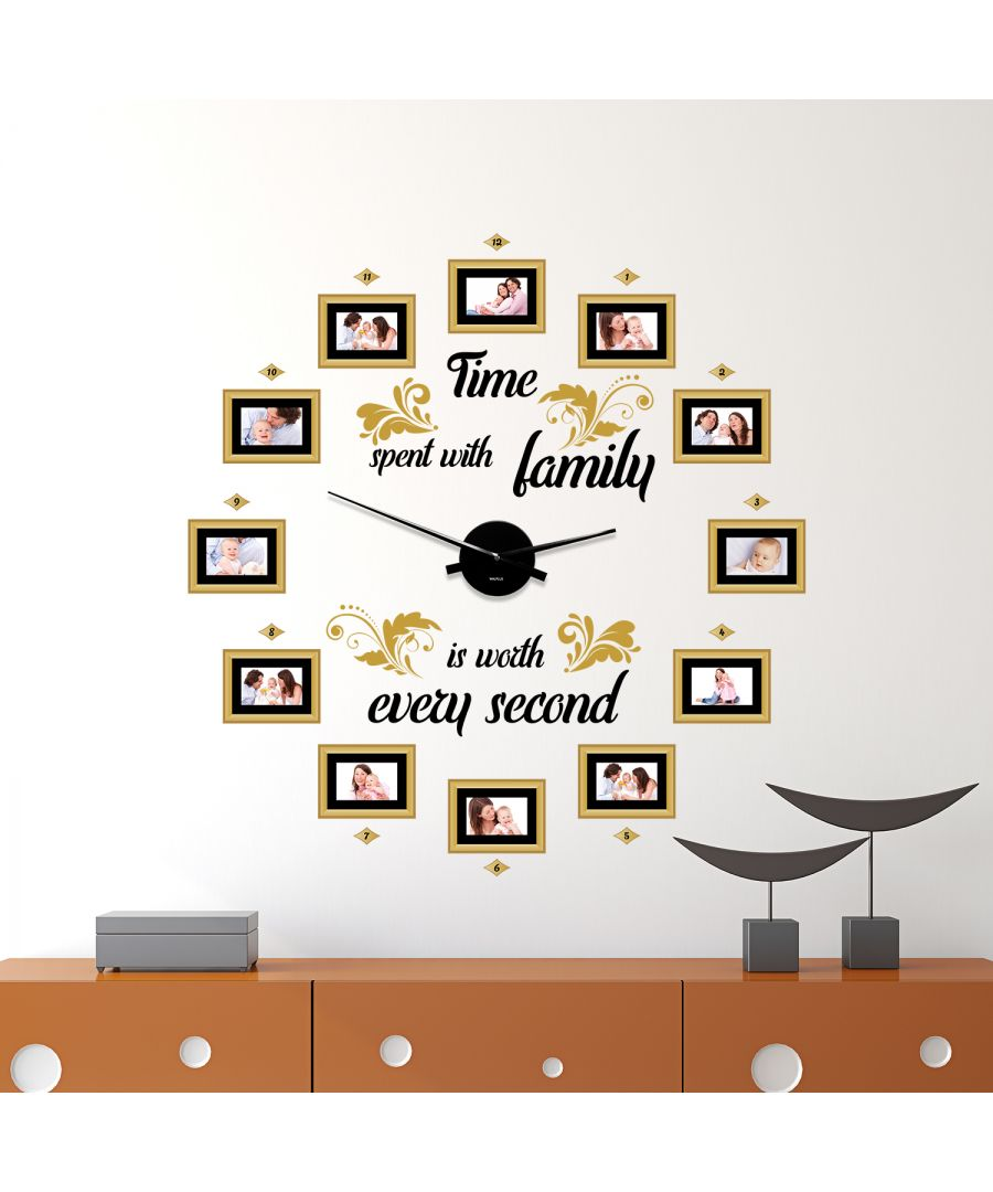 Image for WC2099 - COM - WS9066 + WC2050 - Family Time Classic Photo Frames Wall Clock