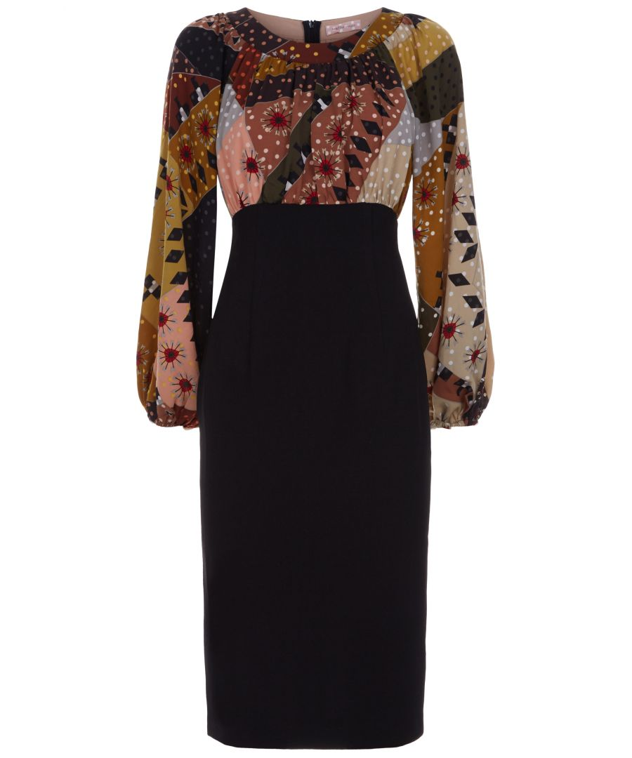 Image for Wiggle Printed Pencil Dress in Multi