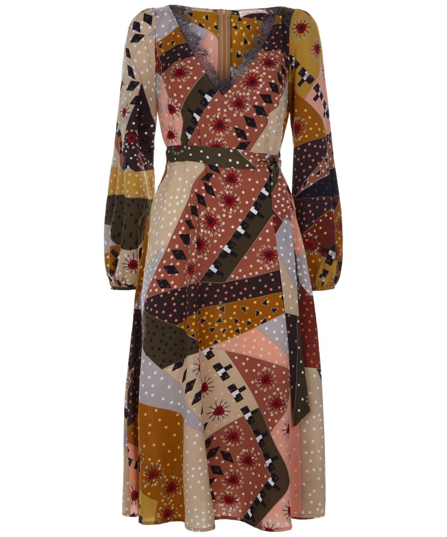 Image for Patchwork Long Sleeve Angela Dress