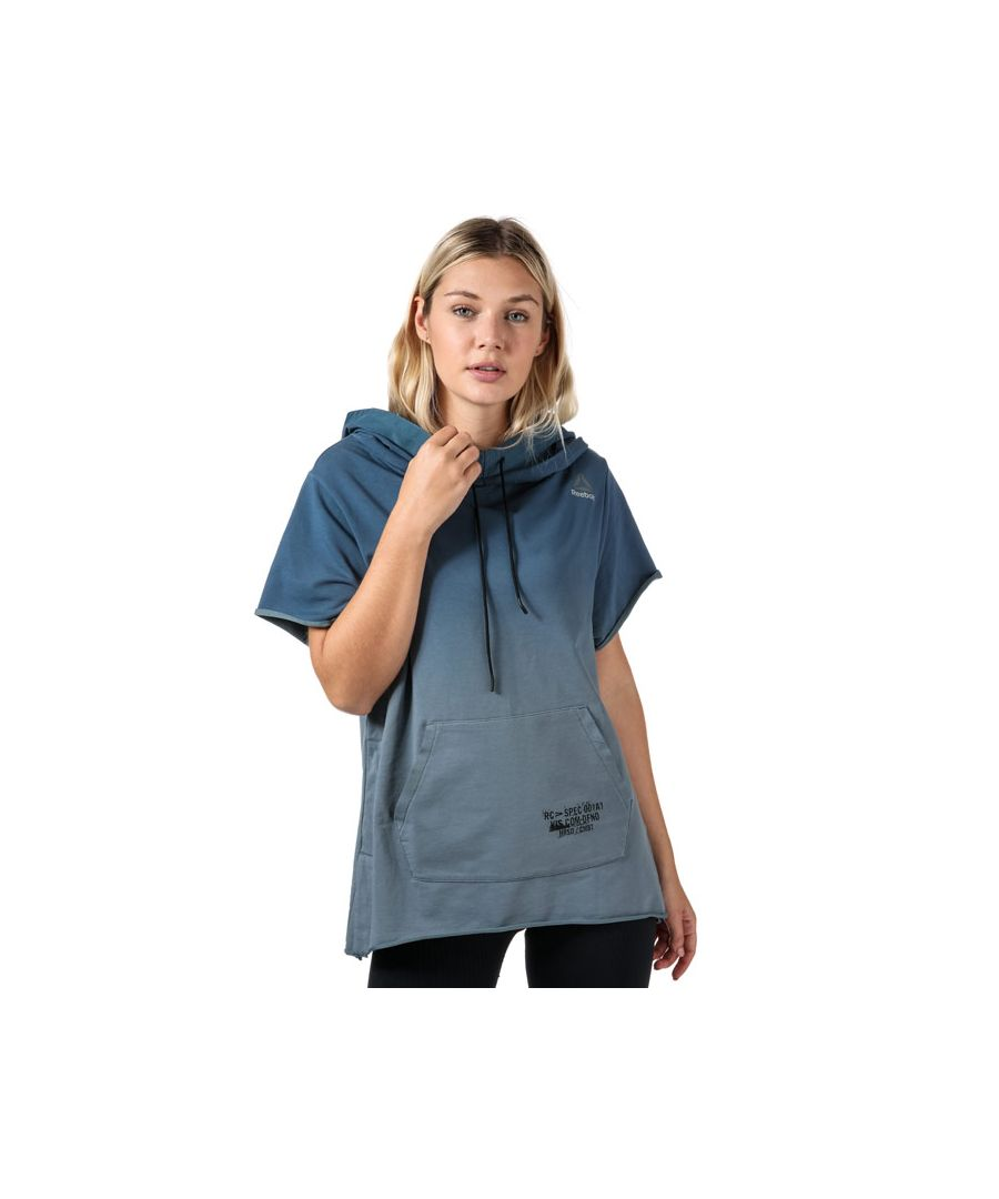 Image for Women's Reebok Combat Ombre Short Sleeve Hoody in Blue