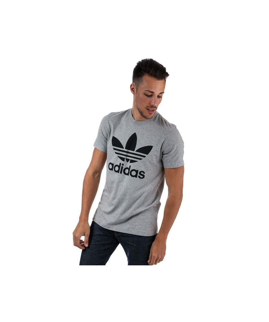 Image for Men's adidas Originals Original Trefoil T-Shirt in Grey