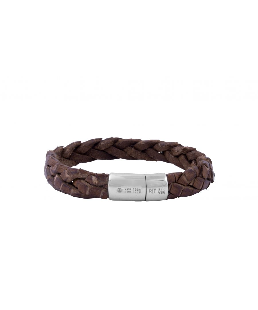Image for Silver  Leather  Brown Single wrap  L-19.5cm(CF)  Cobra Bohemian
