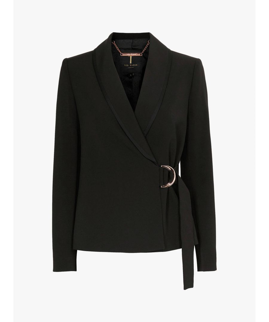 Image for Ted Baker Adaar D-Ring Tailored Jacket, Black