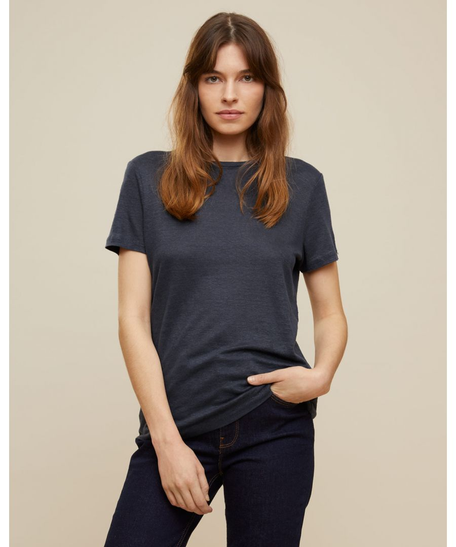 Image for Skye Linen Crew Neck Tee