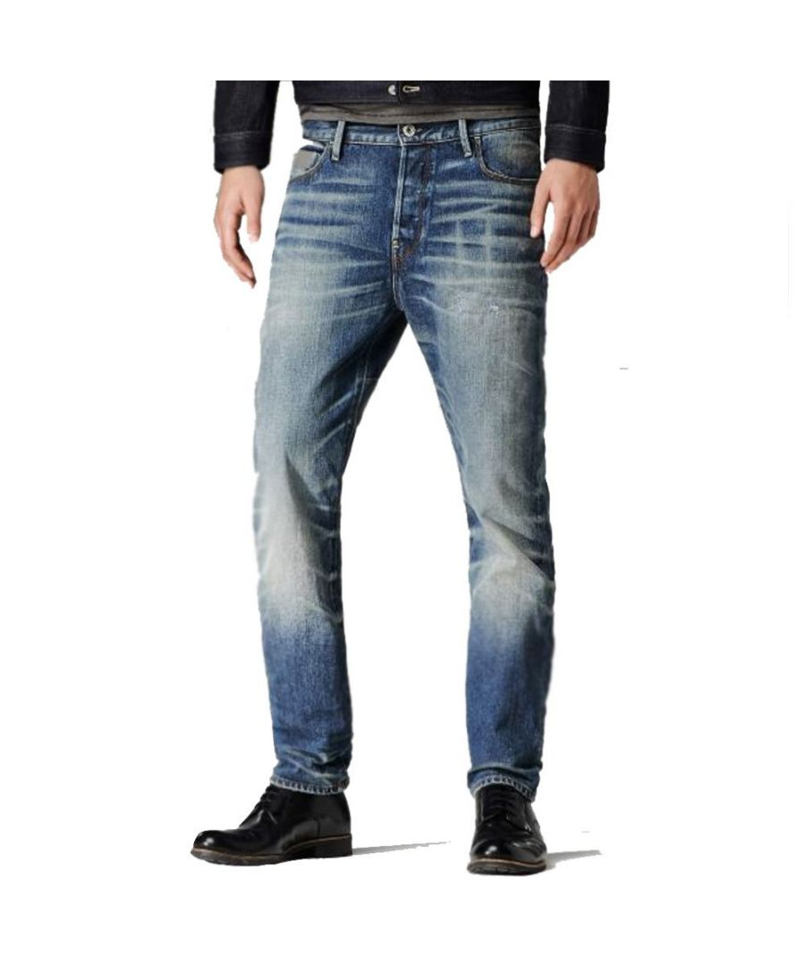 Image for G-Star Blades Tapered Medium Aged Lexicon Denim Jeans