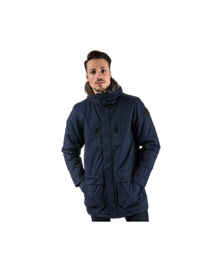 Image for Men's Bench Wadded Fur Parka Jacket in Navy