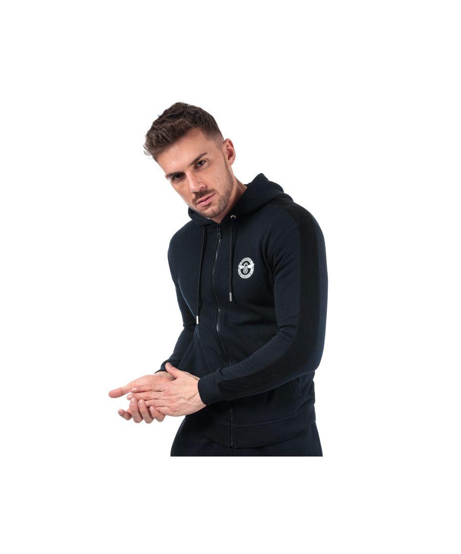 Image for Men's Creative Recreation Full Zip Branded Hoody in Blue